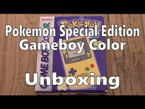 Gameboy Color Special Pokemon Edition Unboxing