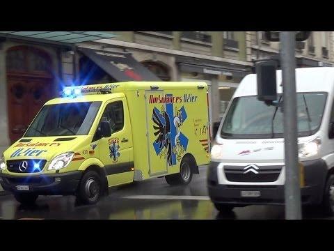Ambulance 430 Genève // Ambulance responding in Geneva