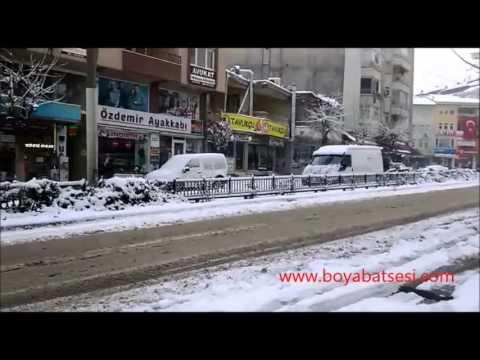 Boyabat'ta Kar Yağışı