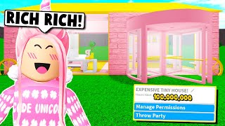 I Used The Most Expensive Items To Make A Tiny House On Bloxburg...broke Again! Roblox