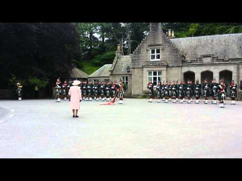 Her Majesty´s the Queen Elizabeth II. holiday ceremony at Balmoral Castle 10/08/2015