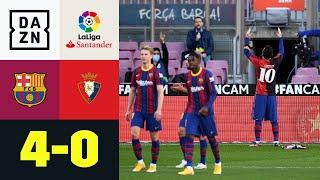 Messi ehrt Maradona mit besonderem Torjubel: FC Barcelona - Osasuna 4:0 | LaLiga | DAZN Highlights