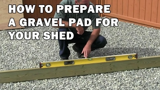 How To Build A Shed - Video 1 Of 15 - Ground Preparation