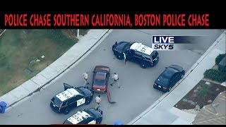 police chase southern california, boston police chase
