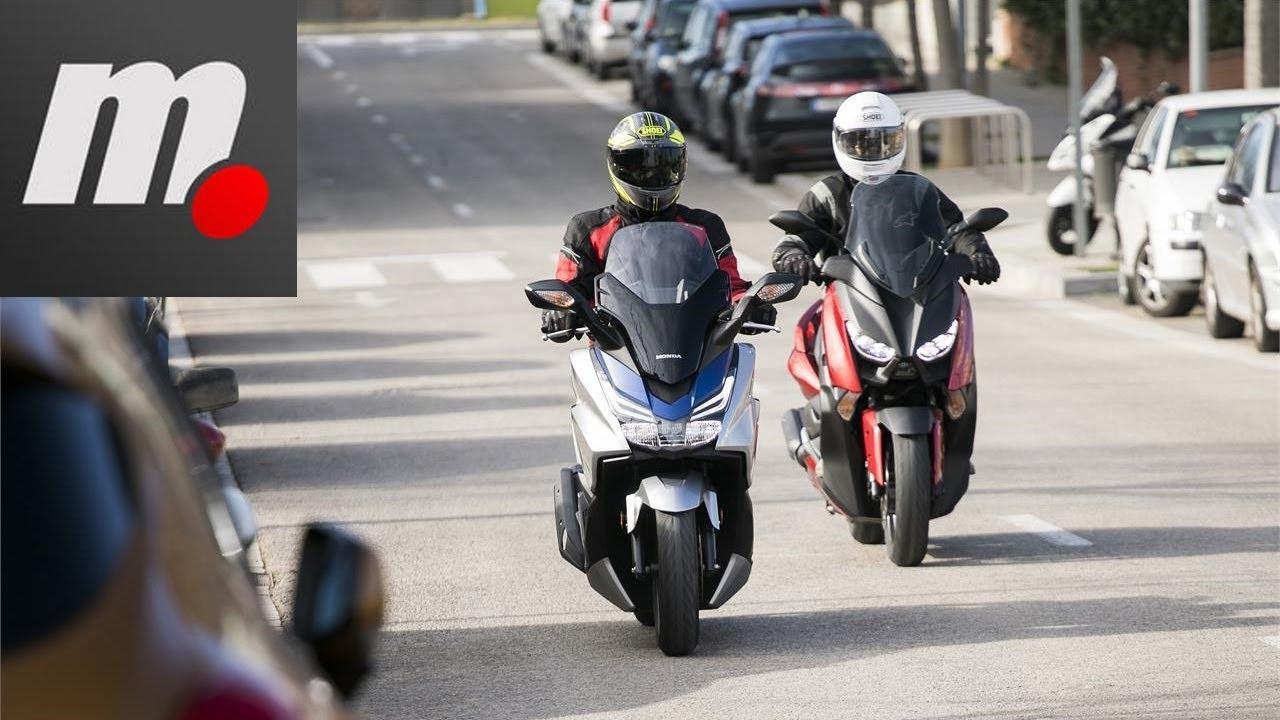 Honda Forza 125 Vs Yamaha Xmax 125 Comparativo Test Review En