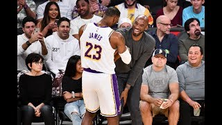 Kobe Bryant Attends Lakers Game at Staples Center Best Highlights