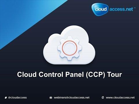 Cloud Control Panel (CCP) Tour