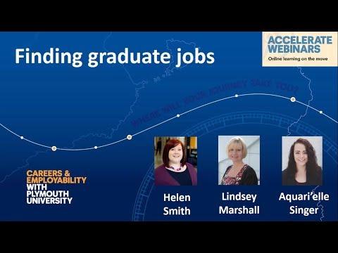 Finding graduate jobs - webinar recording
