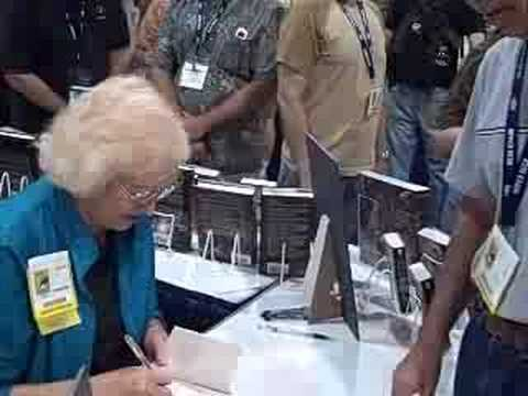 Connie Willis signing copies of Passage at ComicCon