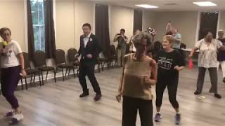 Andrew Yang Dancing the Cupid Shuffle in Beaufort, South Carolina - 8/15/19