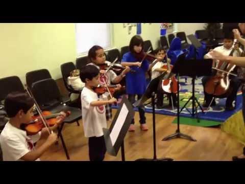 Dallas Christian Academy strings practice for Spring Program 2014