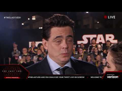 Download Youtube: Benicio Del Toro DJ interview - Star Wars The Last Jedi Red Carpet World Premiere