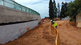 Treballs de soterrament dels FGC a Sabadell