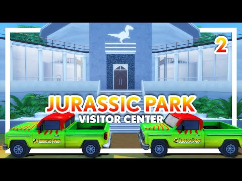 Jurassic Park Visitor Center PART 2: DNA Theater, Labs, & Control Room | Sims 4 Speed Build (CC)
