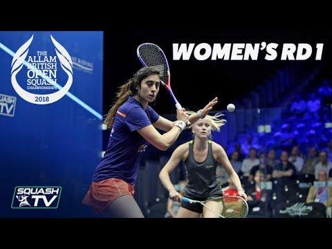 Squash: Allam British Open 2018 - Women\'s Rd1 Round-up