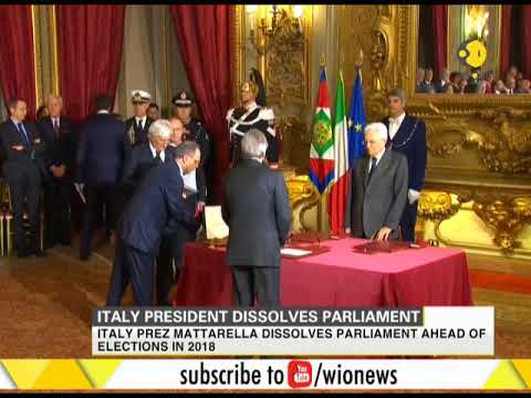 Italian President Sergio Mattarella dissolves Parliament