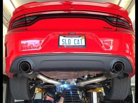 Hellcat Charger Exhaust! Stock Vs Mid Muffler Delete!