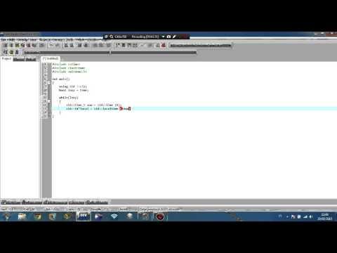 Cara Membuat Jam C++