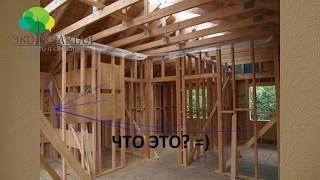 видео Конструкция стен каркасного дома