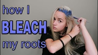 How I Bleach My Roots