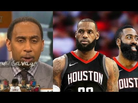 """c12750a0130b Stephen A. Smith Defends LeBron James Team Up Harden """"They ll Beat  Warriors  Ass!"""""""