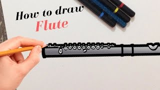 How to draw Flute