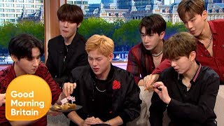 K-Pop Sensations MONSTA X Try Marmite and Scotch Eggs for the First Time | Good Morning Britain