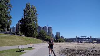 Walking around English Bay in Vancouver BC Canada - Beach Area in Downtown
