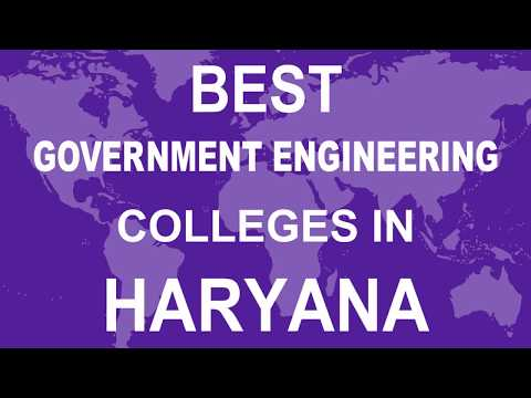 Best Government Engineering Colleges in Haryana