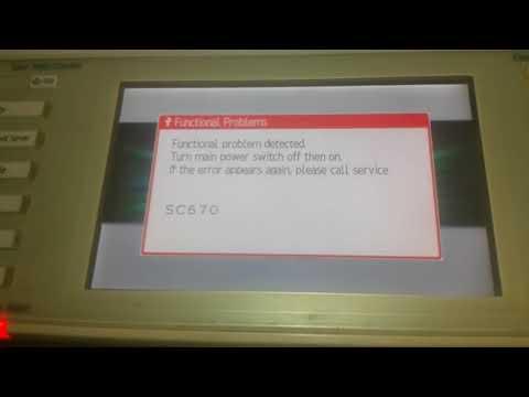 Error sc 670 RICOH AF MP 2553 3010 3053 3350 3351 3352 3353
