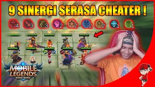 WOW 9 SINERGI JADI 1 AUTO DEWA !! - Magic Chess Mobile Legends indonesia