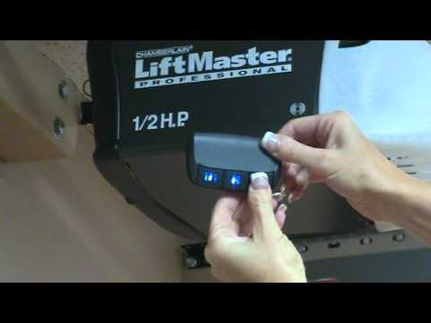 Programming A Liftmaster 895max Garage Remote Youtube