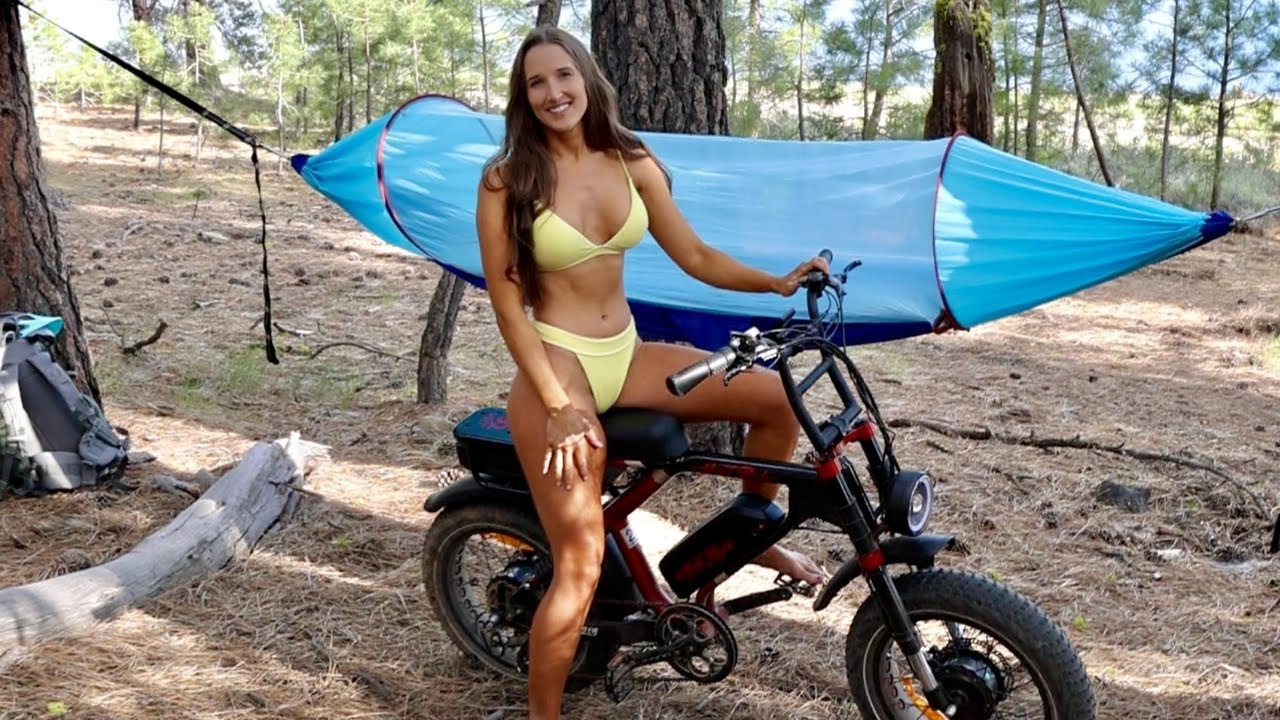 Best Electric Bike for Camping? Testing a New Ebike - Hammock Camping and Mountain Biking for a Swim