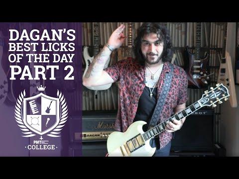 Dagan's 5 Best Guitar Licks Of The Day PT. 2 - Best Of Lockdown Live - 5 MORE Essential Guitar Licks