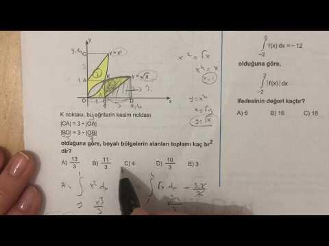 345 AYT Matematik İNTEGRAL-2 Ösym-1 Anlatımlı Çözümleri (2018-2019 basım)