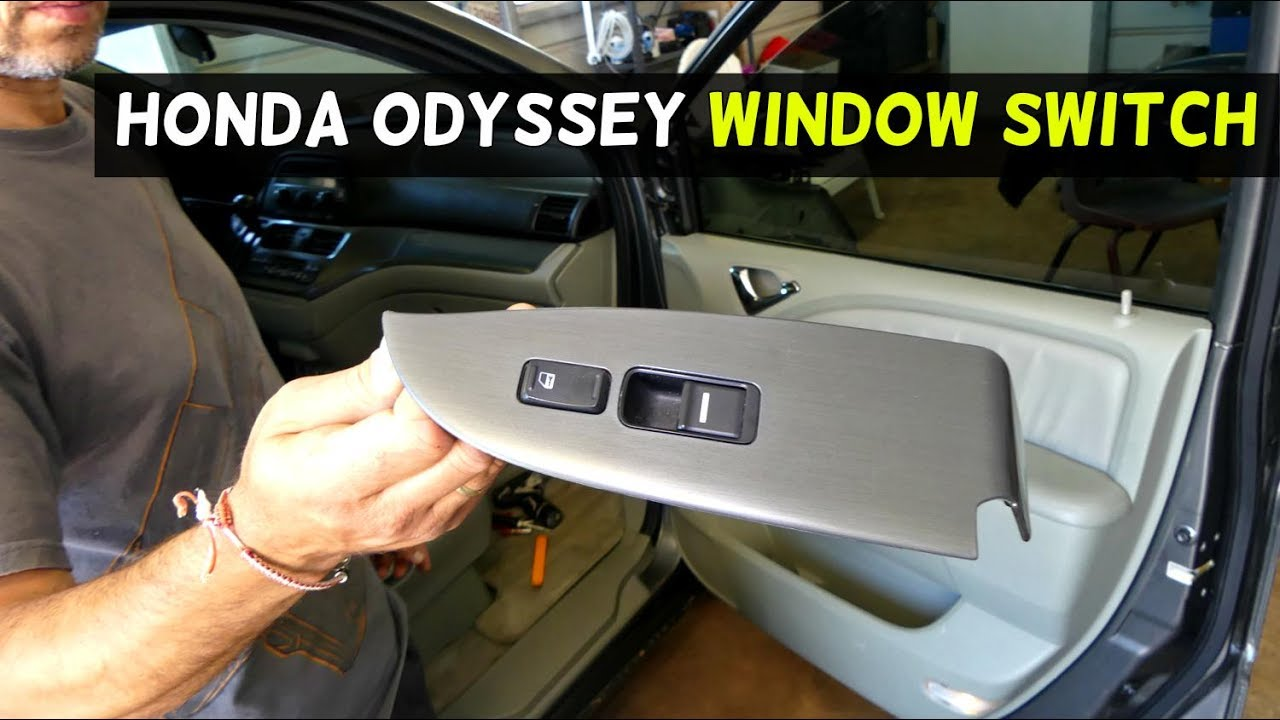Honda Odyssey Window Switch Lock Removal Replacement
