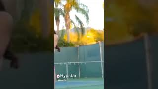 Big boobs sex in tennis court