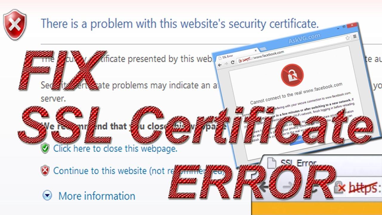 Fix Ssl Certificate Error On Chrome Youtube