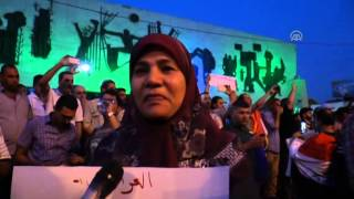 Demonstration in support of Iraqi PM Haider al Abadi in Baghdad