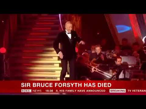 BBC News Channel: The Death of Sir Bruce Forsyth (Announcement) - 18th August 2017