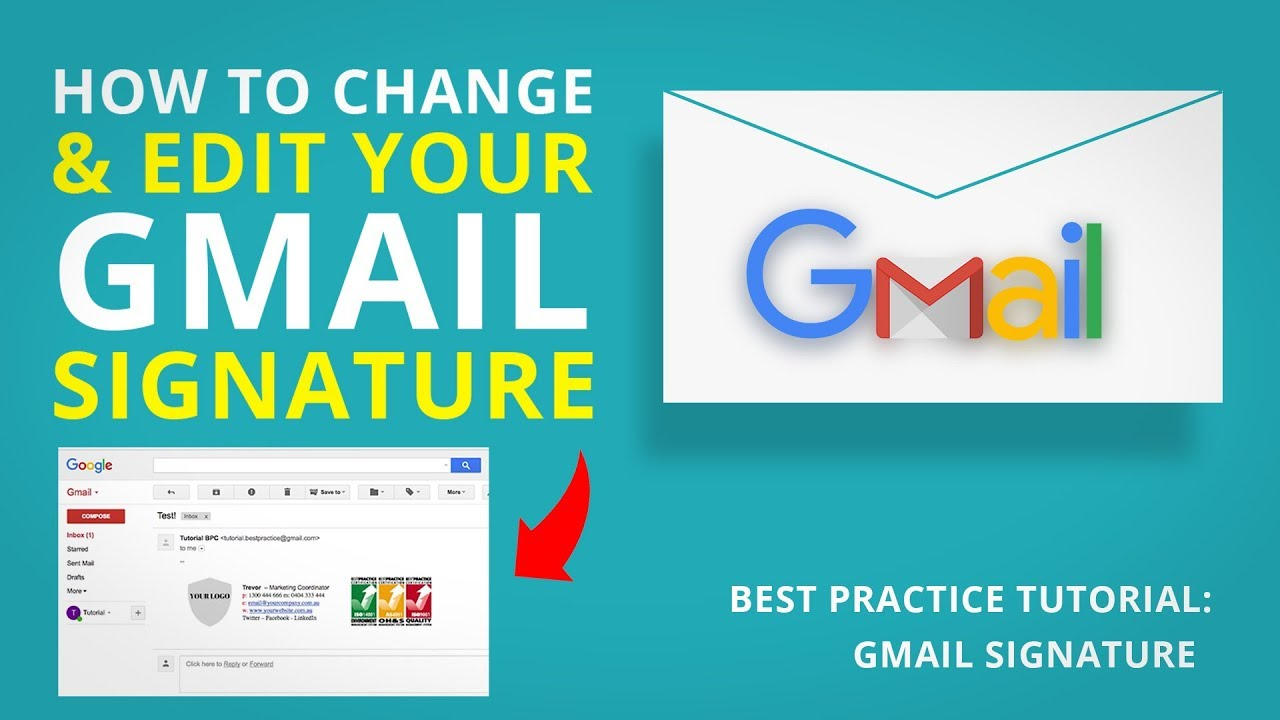 98dc0d86 HOW TO ADD A LOGO TO YOUR GMAIL SIGNATURE | Gmail Tutorial - YouTube