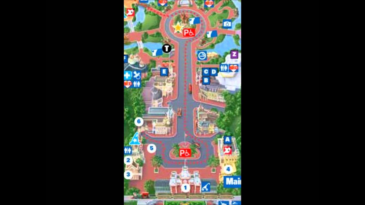 Main Street Disney World Interactive Map - YouTube