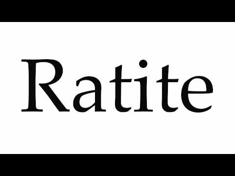 How to Pronounce Ratite