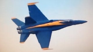 US Navy Blue Angels Over Baltimore City
