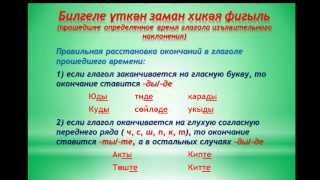 Уроки татарского  языка  Урок 23  Үткән заман хикәя фигыль