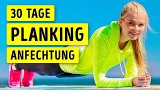 Jeden Tag Planking für einen Monat - sieh, was mit deinem Körper passiert