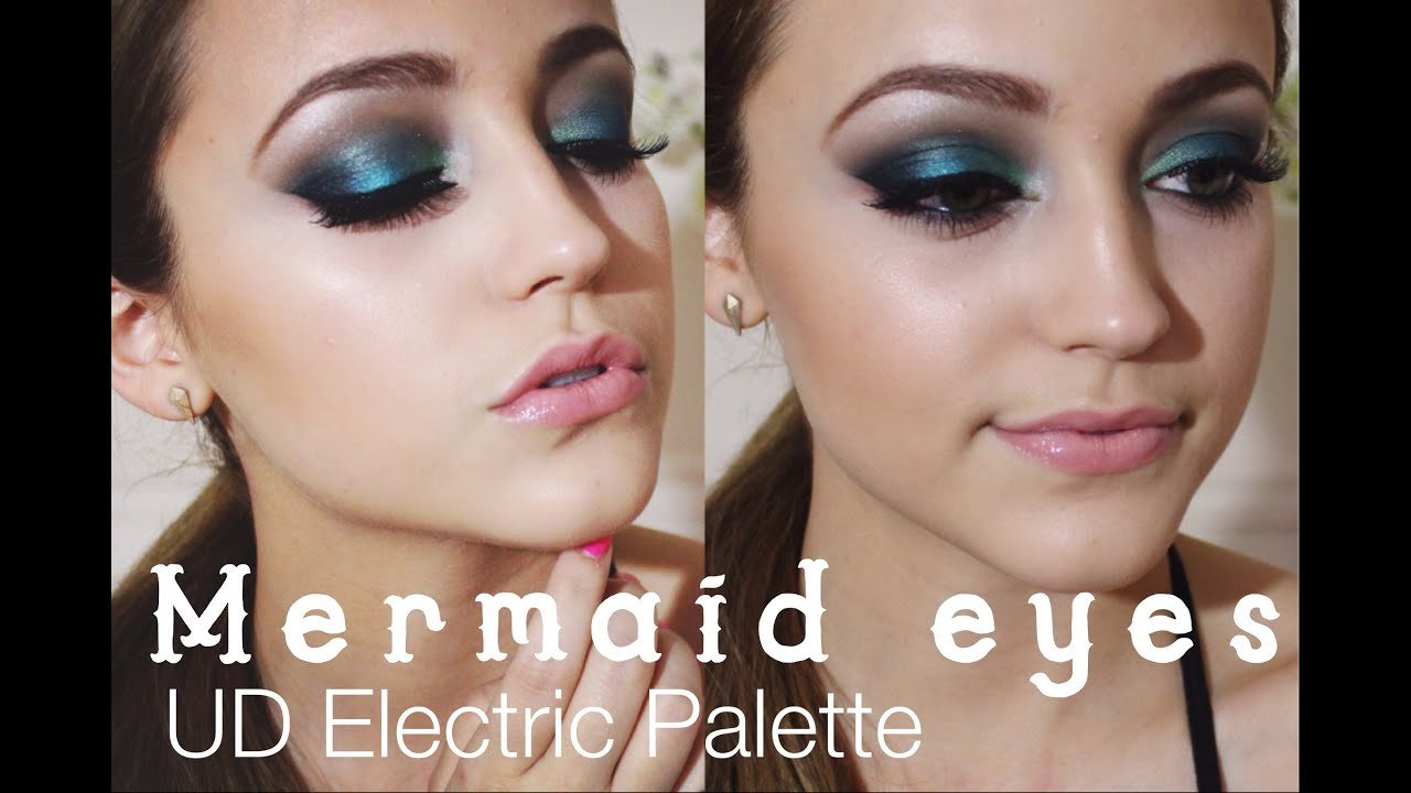 Ud Electric Palette Tutorial Smokey Teal Eyes Youtube