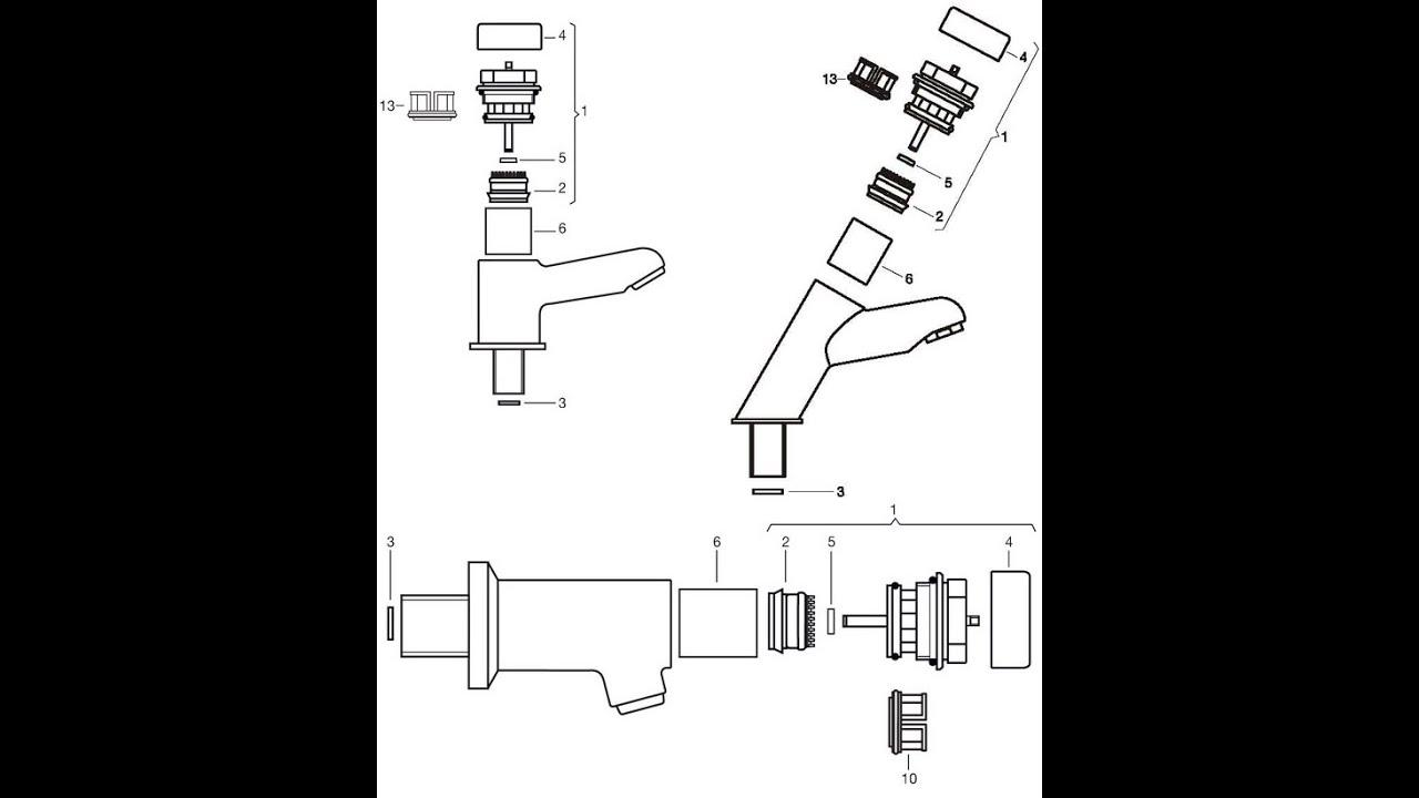 Como desarmar y reparar una canilla presmatic fv for Reparar gotera de regadera