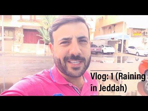 Raining in Jeddah