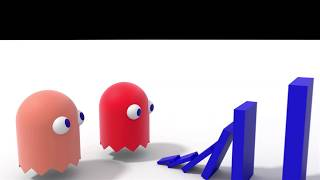 Domino Effect Vs Pac Man - The largest domino simulation V6 short